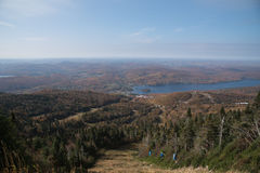 Mont-Tremblant colourful ski station in autumn, Quebec, Canada.  Stock Image