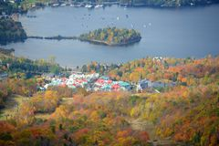 Mont Tremblant with Fall Foliage, Quebec, Canada Stock Images