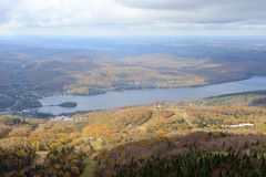 Mont Tremblant with Fall Foliage, Quebec, Canada Royalty Free Stock Photos