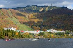 Mont Tremblant with Fall Foliage, Quebec, Canada Stock Photography
