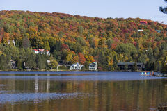 Mont-Tremblant lak-Superieur, Quebec, Canada Royalty-vrije Stock Foto