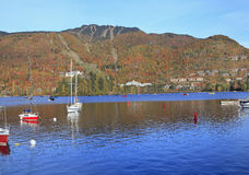 Mont Tremblant Lake with autumn colors, Quebec, Canada Royalty Free Stock Photo