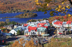 Mont Tremblant Lake and resort Stock Photography