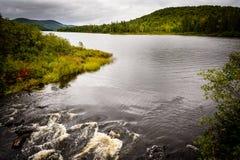 Mont Tremblant National Park - laca Monroe - paisagem Fotografia de Stock Royalty Free