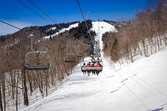 Mont Tremblant, Quebec, Canada. Ski lift in Mont Tremblant resort, Canada Royalty Free Stock Photo