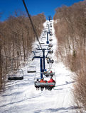 Mont Tremblant, Quebec, Canada. Ski lift in Mont Tremblant resort, Canada Royalty Free Stock Photography
