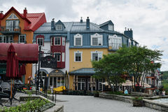 Mont-Tremblant, Quebec, Canada. Mont-Tremblant is a city in the Laurentian mountains of Quebec, Mont-Tremblant is most famous for its ski resort at the foot of a Stock Photos