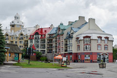 Mont-Tremblant, Quebec, Canada. Mont-Tremblant is a city in the Laurentian mountains of Quebec, Mont-Tremblant is most famous for its ski resort at the foot of a Stock Photography