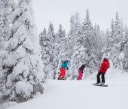 Mont-Tremblant Ski Resort, Quebec, Canada fotografie stock libere da diritti