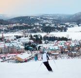 Mont-Tremblant Ski Resort, Quebec, Kanada Lizenzfreies Stockbild