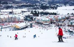 Mont-Tremblant Ski Resort, Quebec, Kanada Arkivfoto