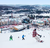 Mont-Tremblant Ski Resort, Quebeque, Canadá Fotografia de Stock