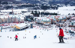 Mont-Tremblant Ski Resort, Quebeque, Canadá foto de stock