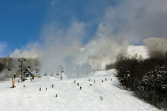 Mont Tremblant Ski Resort. In the winter Stock Images