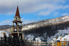 Mont Tremblant Ski Resort. In the winter Royalty Free Stock Photos