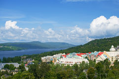 Mont Tremblant village in summer royalty free stock photo