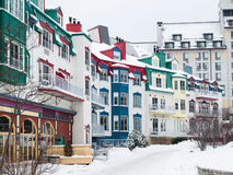 Mont-Tremblant village in winter Royalty Free Stock Photos