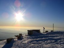 mont ventoux冬天 库存照片