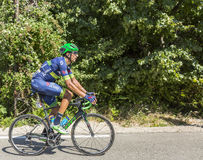 Mont Ventoux -环法自行车赛的骑自行车者鲁宾广场莫利纳 库存照片