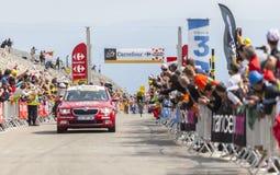 Mont Ventoux -环法自行车赛的黄色泽西2013年 图库摄影