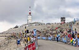 Mont Ventoux-环法自行车赛2013年 免版税库存图片