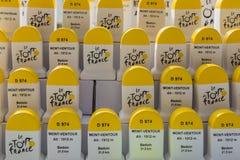 Mont Ventoux Artisanal Milestones - Souvenirs of Tour de France Stock Photography