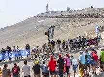 Mont Ventoux de escalada Imagens de Stock Royalty Free