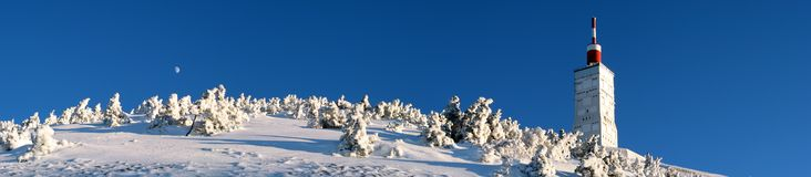 Mont Ventoux in de winter Stock Foto