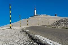 Mont Ventoux in Frankrijk stock foto's