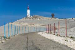 Mont Ventoux in Frankrijk stock fotografie