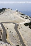 Mont Ventoux hair pin bend  Royalty Free Stock Images