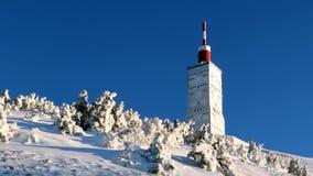 Mont Ventoux im Winter stockfotografie