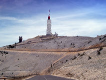 Mont Ventoux, Provence, France. Summit area of Mont Ventoux in the Provence Region of France Stock Photography