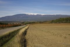 Mont ventoux sneeuw Royalty-vrije Stock Foto