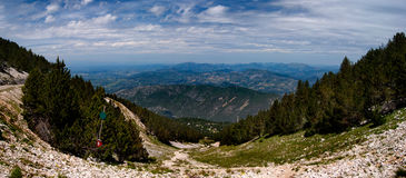 Mont-Ventoux. A view from the Mont-Ventoux Royalty Free Stock Images