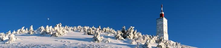 Mont Ventoux in winter. Mont Ventoux summit in winter Stock Photo