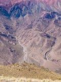Montaña EL Hornocal, Humahuaca, Αργεντινή Στοκ Φωτογραφία
