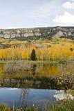 Montaña, árboles y lago de Colorado imágenes de archivo libres de regalías