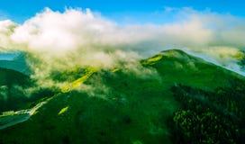 Montaña aérea de Hehuanshan del tiro imagenes de archivo