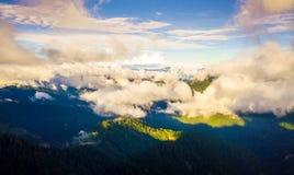 Montaña aérea de Hehuanshan del tiro imagen de archivo