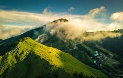 Montaña aérea de Hehuanshan del tiro Fotografía de archivo libre de regalías