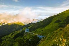 Montaña aérea de Hehuanshan del tiro Foto de archivo libre de regalías