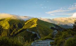 Montaña aérea de Hehuanshan del tiro Fotos de archivo libres de regalías