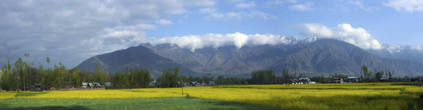 Montaña ahumada fotografía de archivo libre de regalías