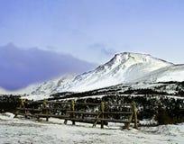 Montaña Alaska del top plano Imagenes de archivo