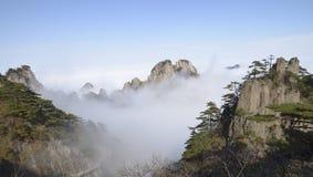 Montaña amarilla - Huangshan, China foto de archivo
