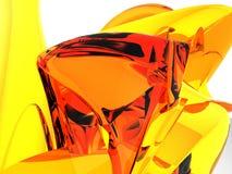 Montaña ambarina anaranjada Fotografía de archivo