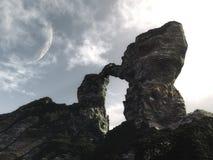 Montaña arqueada Foto de archivo libre de regalías