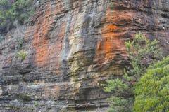 Montaña azul Australia imagenes de archivo