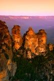 Montaña azul, NSW, Australia Imágenes de archivo libres de regalías